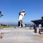It's a short walk over to the USS Midway and this great statue by Seward Johnson.