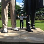Abe Lincoln is a huge figure in history, but physically much larger than life here!