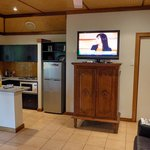 TV placed on old cabint
