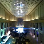 Hotel lobby from the second floor