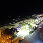 View at night on Surfers Beach