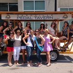 Our group plus another bachelorette party and a ladies weekend group