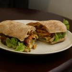 chicken and bacon with curry dressing