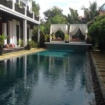 Swimming pool with rooms overlooking