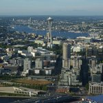 Lake Union Landing Approach, just right of the space needle