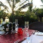Cena romántica en la villa