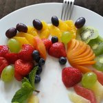 The surprise in the room - fruit plate