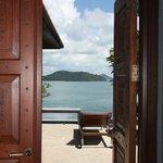 View from villa thru entrance door