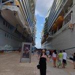 Arriving at Cozumel Cruise Terminal.