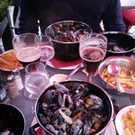 Mussels, Chips and Beer!