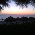 il fantastico tramonto del gabbiano ......