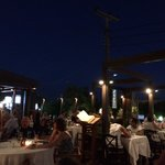 Terpsis by night. A beautiful setting for a delicious relaxing meal.