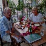 Nöjda matgästerna Gunilla och Stefan