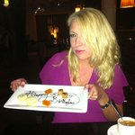 Birthday message with the petit fours