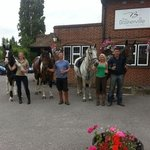 Taking the horses for a pint at the Baskerville
