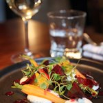 Goats cheese and summer vegetable salad