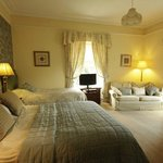 Room 3: spacious en-suite twin or family room, with views over the fells