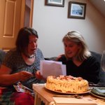 Birthday cake baked by Hen Cloud cottage manager, Lorna