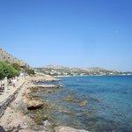 Der Strand des Hotels