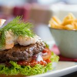 Surf & Turf Burger with Side Chips