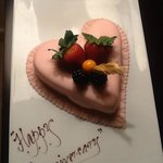 Our surprise Anniversary cake from the Hotel Management. Thank you.