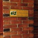 Cantinho da decoração em homenagem ao Brasil.
