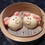 Coconut egg custard-filled 'piggy' buns