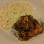 Primi Piatti: Risotto al Sambuco e Parmigiana di Melanzane con Formaggi Locali