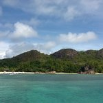 view of Pralin Island from the Catamaran