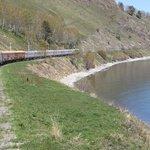 Zarengold train at Lake Baikal