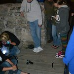 Paranormal investigators use sensors and other tools on our ghost hunt.
