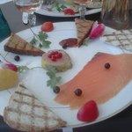 duo foie gras et saumon
