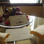 Welcome fruit platter in our room on arrival.