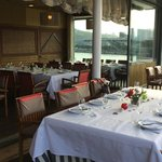 The large upper deck outdoor dining area for special parties