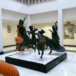 Sculptures on display..