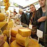 Kaas van Maarten op de Boerenmarkt Noordermarkt