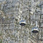 Two Cable Cars Passing