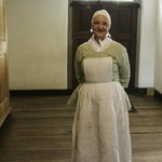 Costumed Interpreter at Brothers House