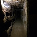 Exploring the catacombs outside Rome, thrilling!