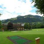 hotel visto dal campo da golf