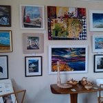 Paintings for sale upstairs in the gallery