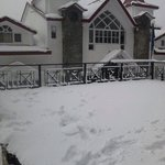 Snow view of hotel