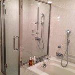 部屋のバスルームとシャワー室