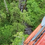 Looking down from the highest platform