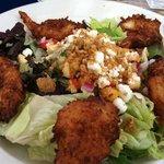 Coconut shrimp entree salad
