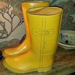 wellies in the lodge for our use