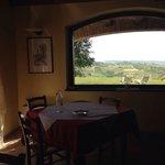 La vista dalla sala da pranzo del Bricco