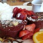 red velvet cake french toast