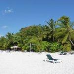 Bester Strandabschnitt bei den Jaccuzzi Beach Bungis und Wasservillen