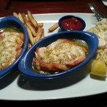 Seaside Shrimp Trio, Substituted in Garlic Shrimp Scampi!
